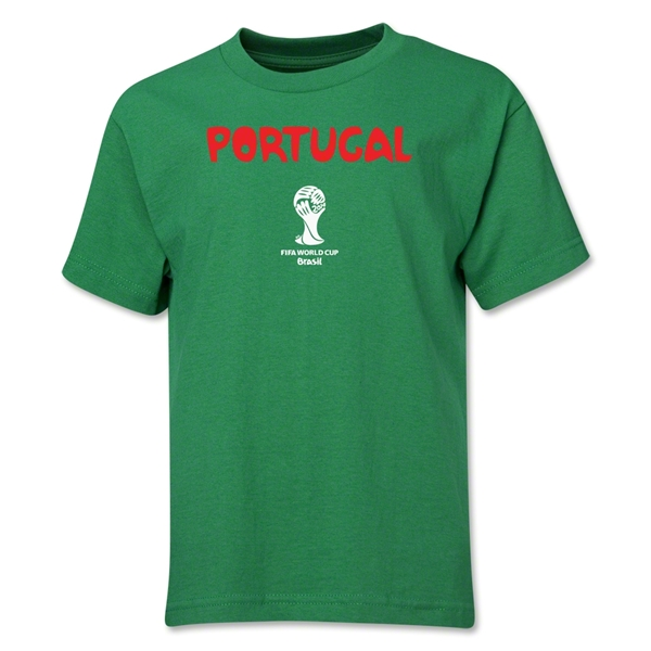 Portugal 2014 FIFA World Cup Brazil(TM) Youth Core T-Shirt (Green)