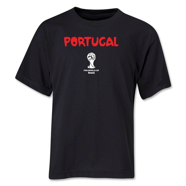 Portugal 2014 FIFA World Cup Brazil(TM) Youth Core T-Shirt (Black)