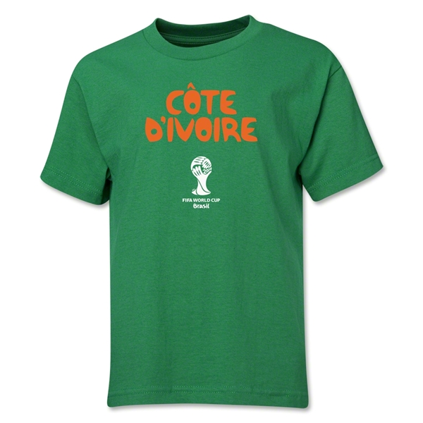 Cote d'Ivoire 2014 FIFA World Cup Brazil(TM) Youth Core T-Shirt (Green)