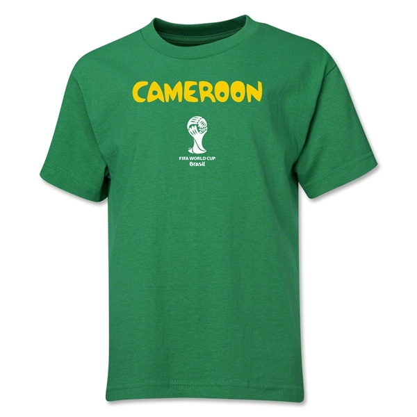 Cameroon 2014 FIFA World Cup Brazil(TM) Youth Core T-Shirt (Green)