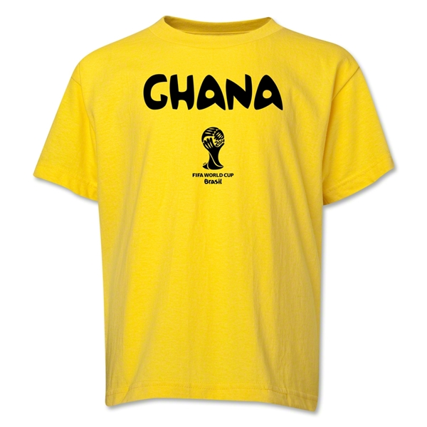 Ghana 2014 FIFA World Cup Brazil(TM) Youth Core T-Shirt (Yellow)