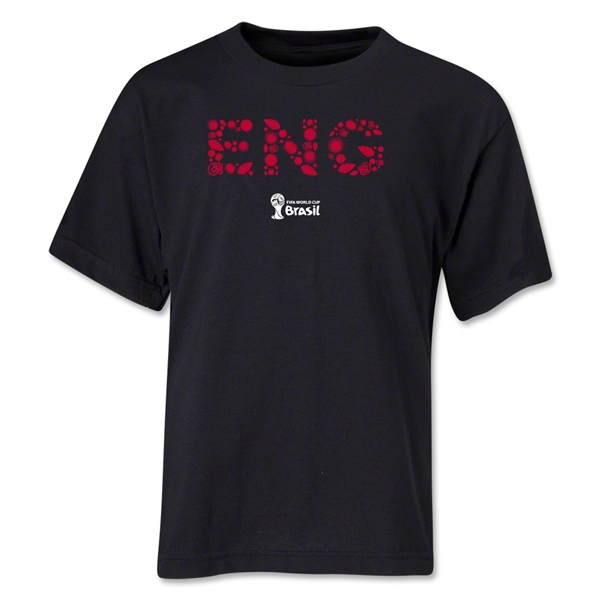 England 2014 FIFA World Cup Brazil(TM) Youth Elements T-Shirt (Black)