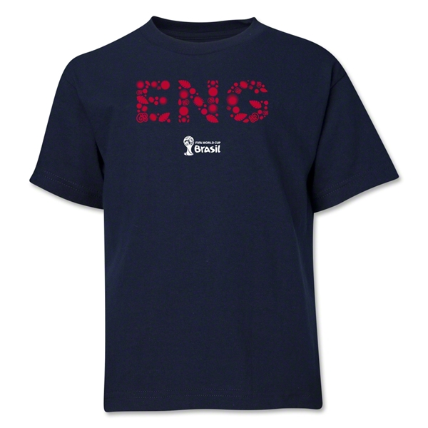 England 2014 FIFA World Cup Brazil(TM) Youth Elements T-Shirt (Navy)