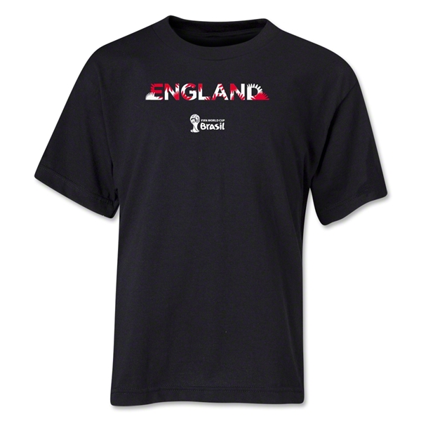 England 2014 FIFA World Cup Brazil(TM) Youth Palm T-Shirt (Black)