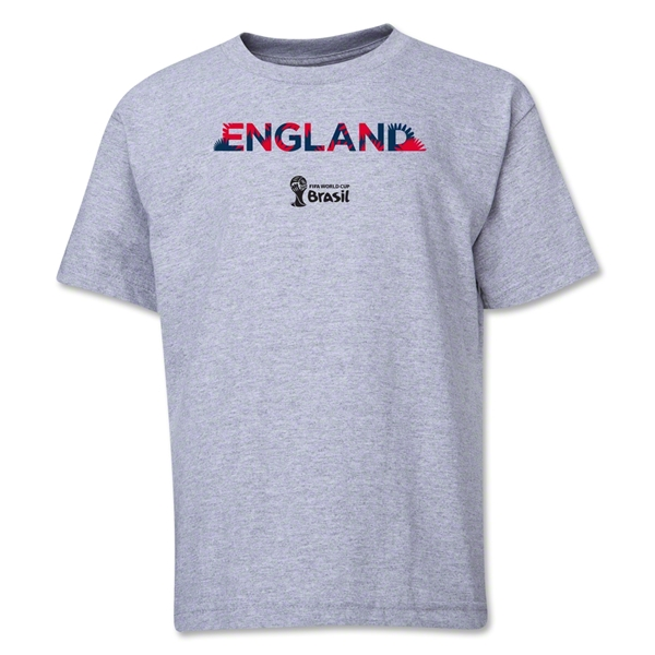 England 2014 FIFA World Cup Brazil(TM) Youth Palm T-Shirt (Grey)