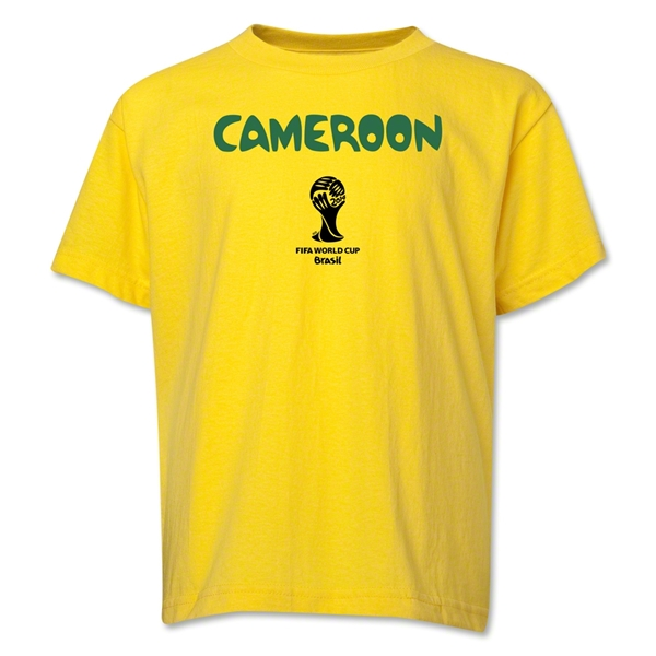 Cameroon 2014 FIFA World Cup Brazil(TM) Youth Core T-Shirt (Yellow)