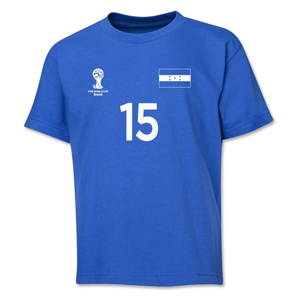 Honduras 2014 FIFA World Cup Brazil(TM) Youth Number 15 T-Shirt (Royal)