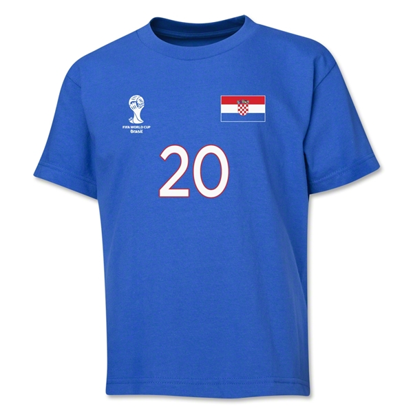 Croatia 2014 FIFA World Cup Brazil(TM) Youth Number 20 T-Shirt (Royal)
