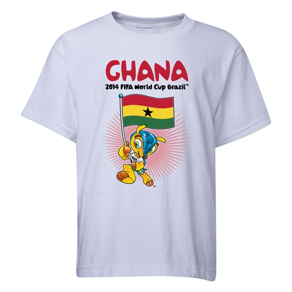 Ghana 2014 FIFA World Cup Brazil(TM) Youth Mascot Flag T-Shirt (White)