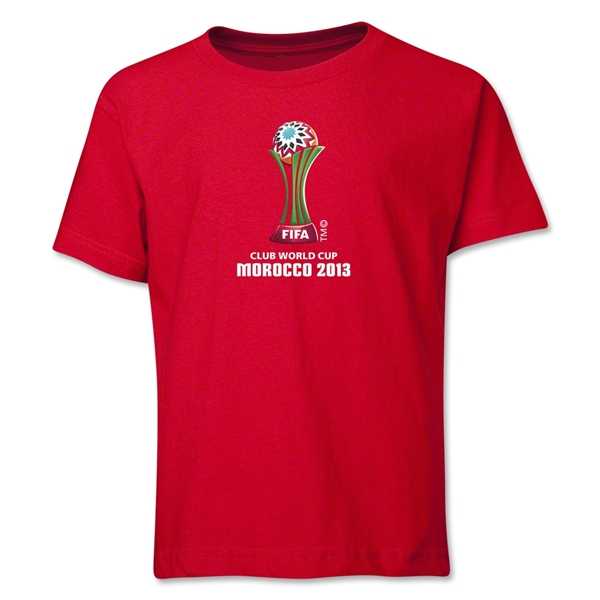FIFA Club World Cup Morocco 2013 Youth Official Emblem T-Shirt (Red)