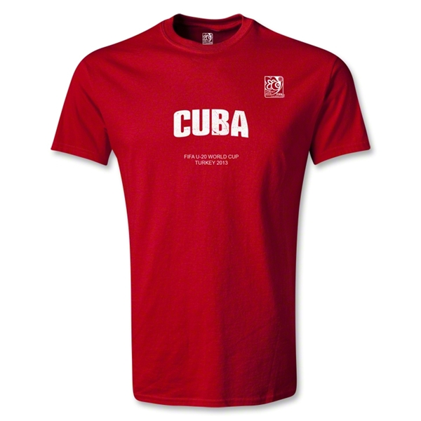 FIFA U-20 World Cup Turkey Youth Cuba T-Shirt (Red)