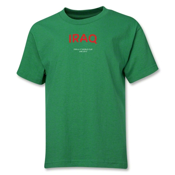 Iraq 2013 FIFA U-17 World Cup UAE Youth T-Shirt (Green)