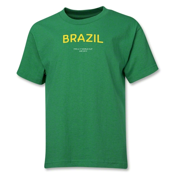 Brazil 2013 FIFA U-17 World Cup UAE Youth T-Shirt (Green)