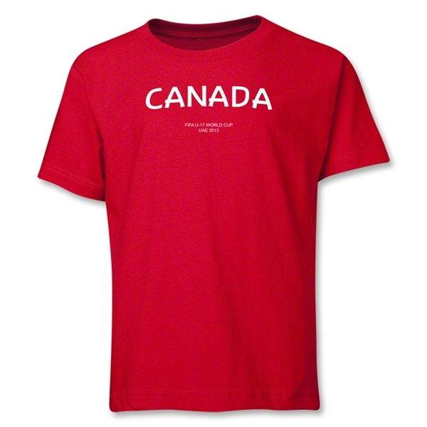 Canada 2013 FIFA U-17 World Cup UAE Youth T-Shirt (Red)