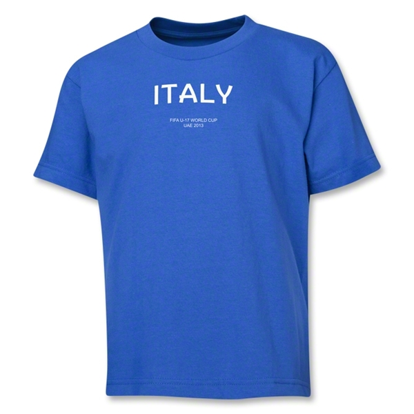 Italy 2013 FIFA U-17 World Cup UAE Youth T-Shirt (Royal)