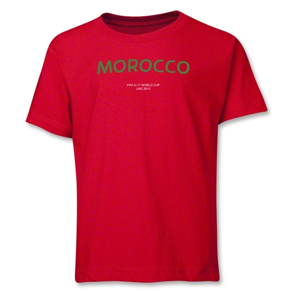 Morocco 2013 FIFA U-17 World Cup UAE Youth T-Shirt (Red)