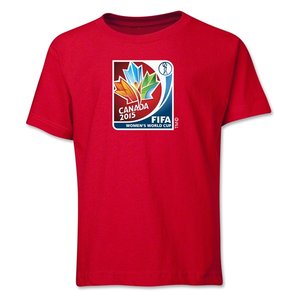 FIFA Women's World Cup Canada 2015(TM).Core Youth T-Shirt (Red)
