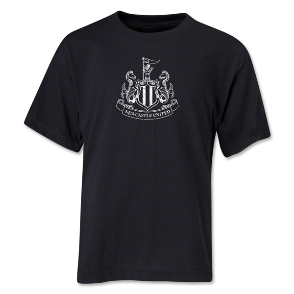 Newcastle United Distressed Youth T-Shirt (Black)