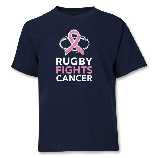 Rugby Fights Cancer Youth T-Shirt (Navy)