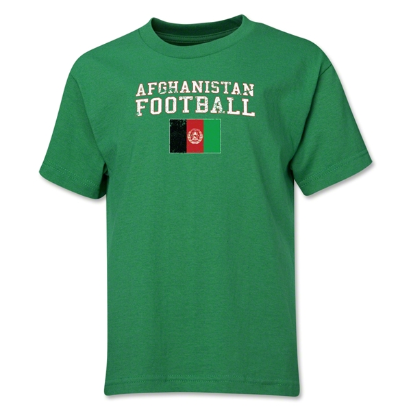 Afghanistan Youth Football T-Shirt (Green)