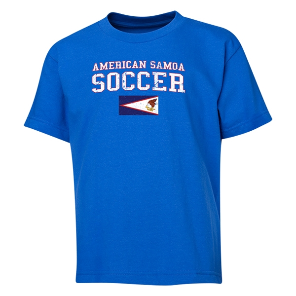 American Samoa Youth Soccer T-Shirt (Royal)