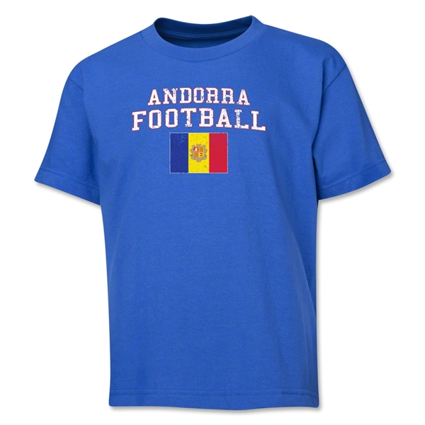 Andorra Youth Football T-Shirt (Royal)