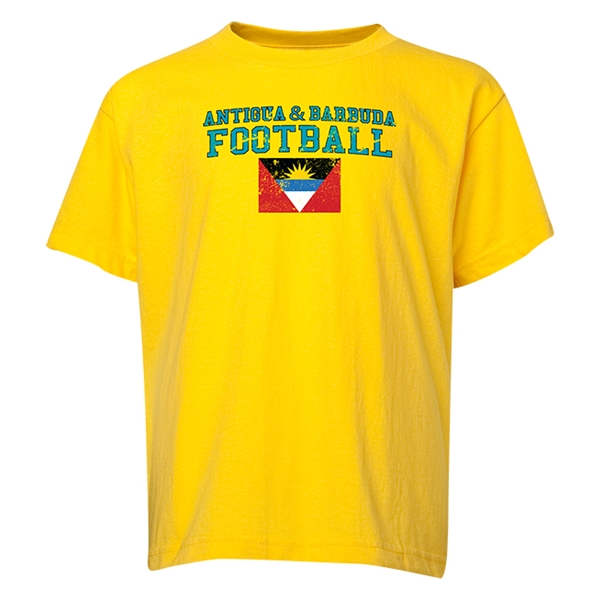 Antigua & Barbuda Youth Football T-Shirt (Yellow)