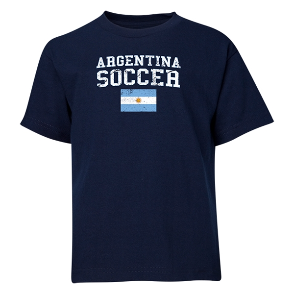 Argentina Youth Soccer T-Shirt (Navy)