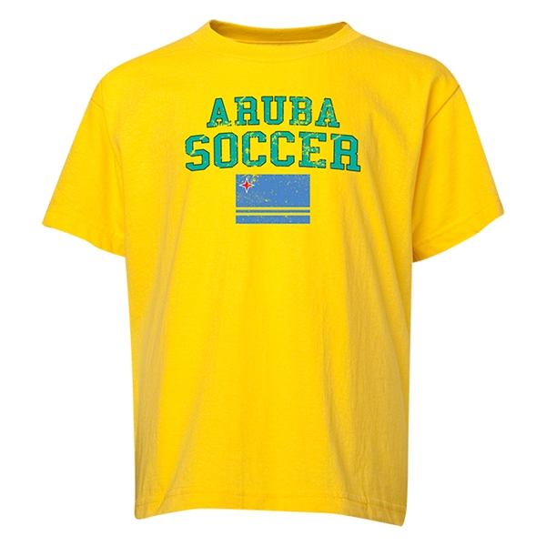 Aruba Youth Soccer T-Shirt (Yellow)