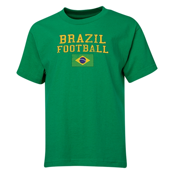 Brazil Youth Football T-Shirt (Green)
