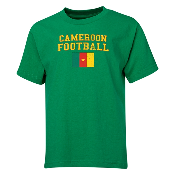Cameroon Youth Football T-Shirt (Green)