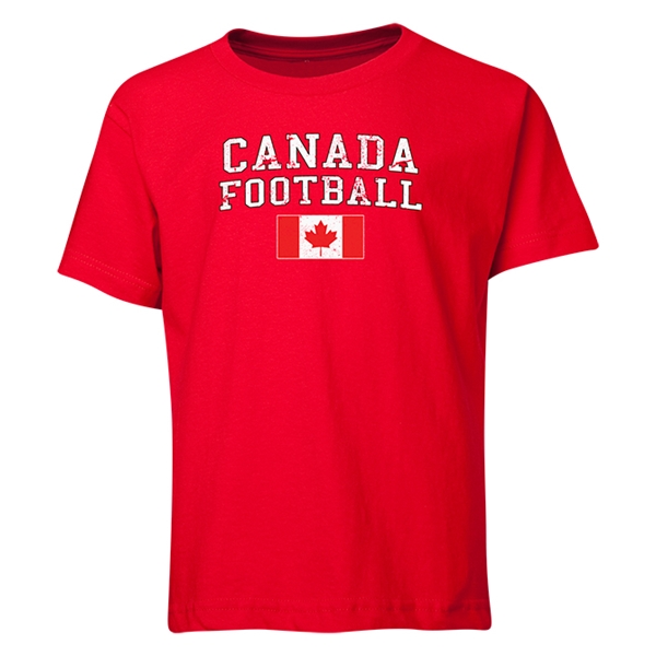 Canada Youth Football T-Shirt (Red)