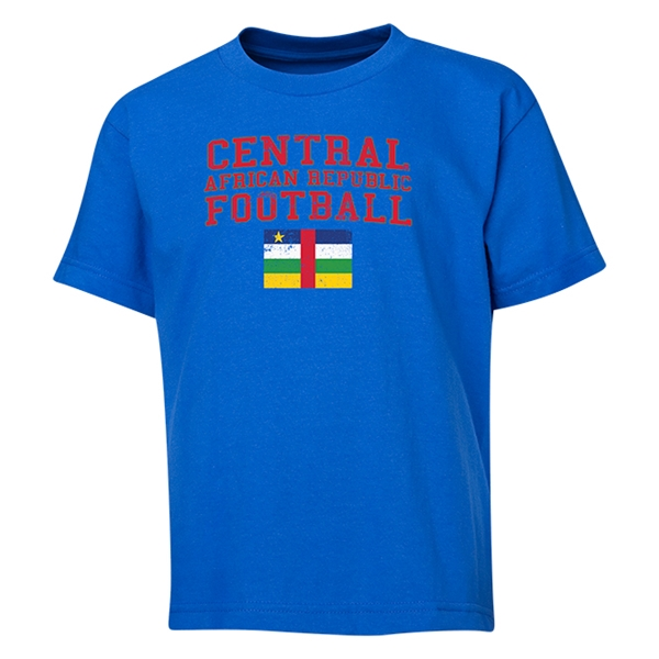 Central African Republic Youth Football T-Shirt (Royal)