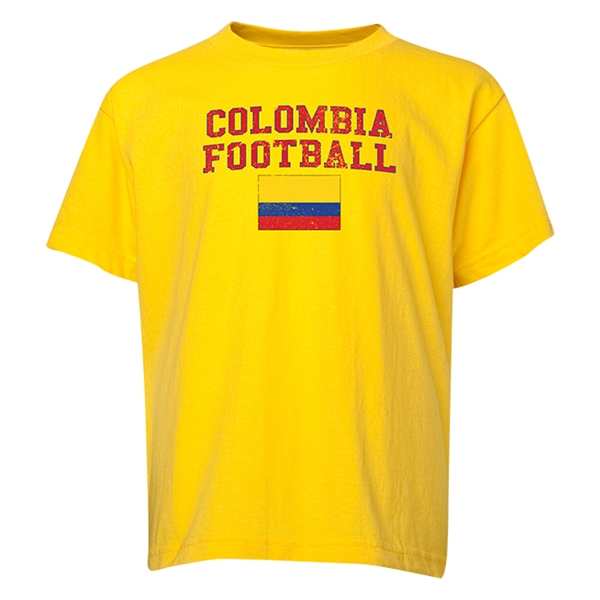 Colombia Youth Football T-Shirt (Yellow)