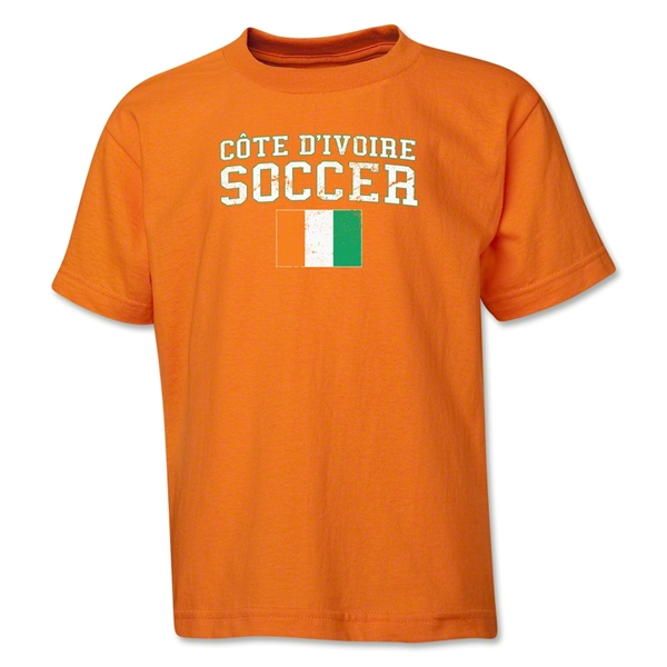 Cote d'Ivoire Youth Soccer T-Shirt (Orange)