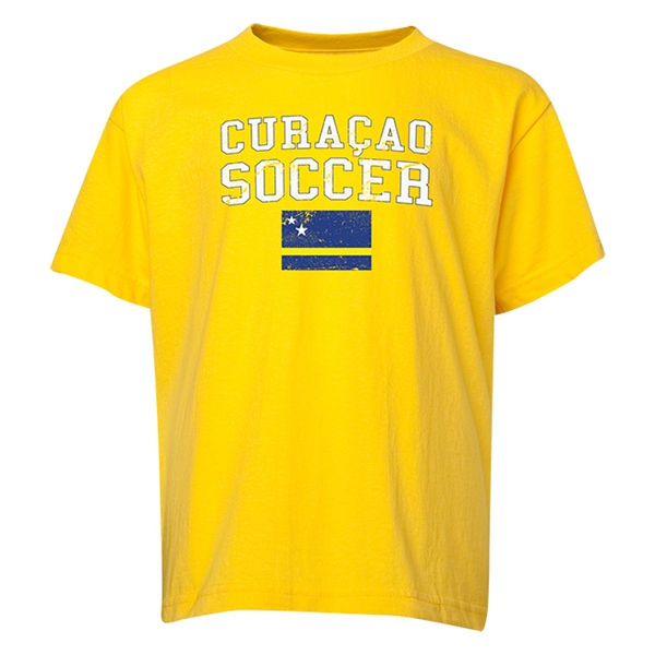Curacao Youth Soccer T-Shirt (Yellow)