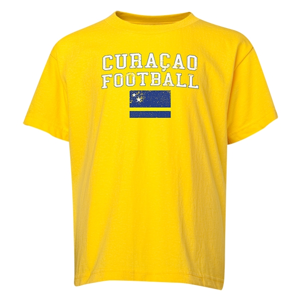 Curacao Youth Football T-Shirt (Yellow)