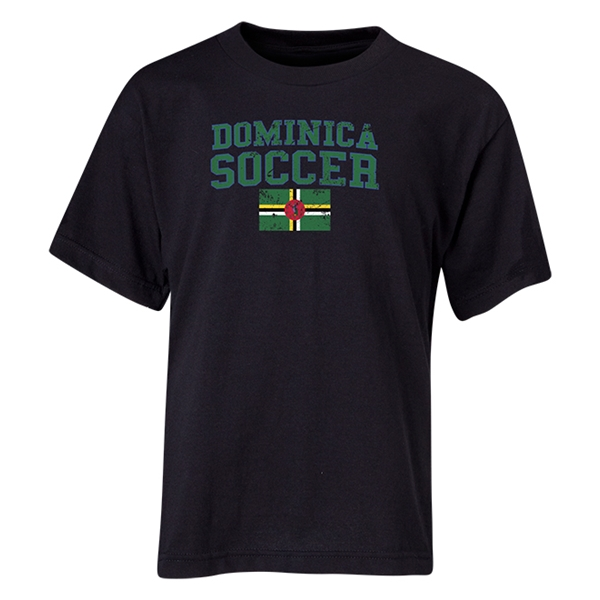 Dominica Youth Soccer T-Shirt (Black)