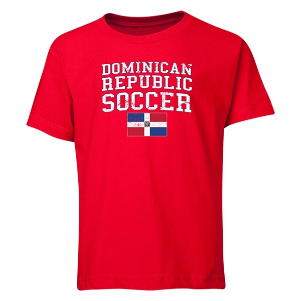 Dominican Republic Youth Soccer T-Shirt (Red)
