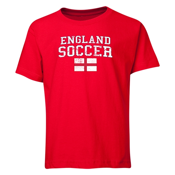 England Youth Soccer T-Shirt (Red)
