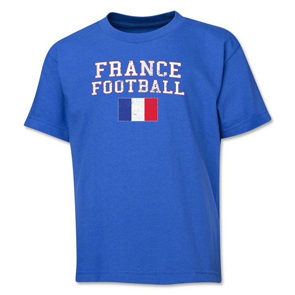 France Youth Football T-Shirt (Royal)