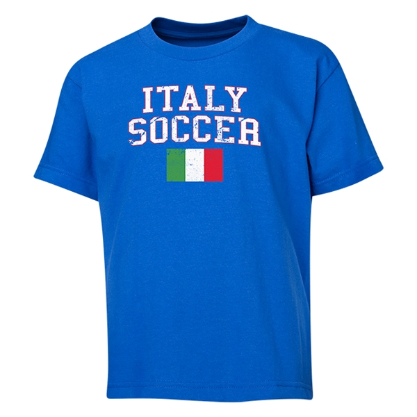 Italy Youth Soccer T-Shirt (Royal)