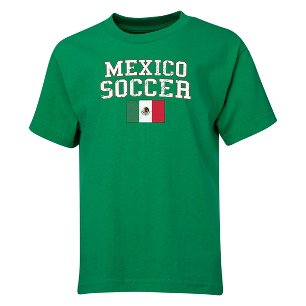 Mexico Youth Soccer T-Shirt (Green)