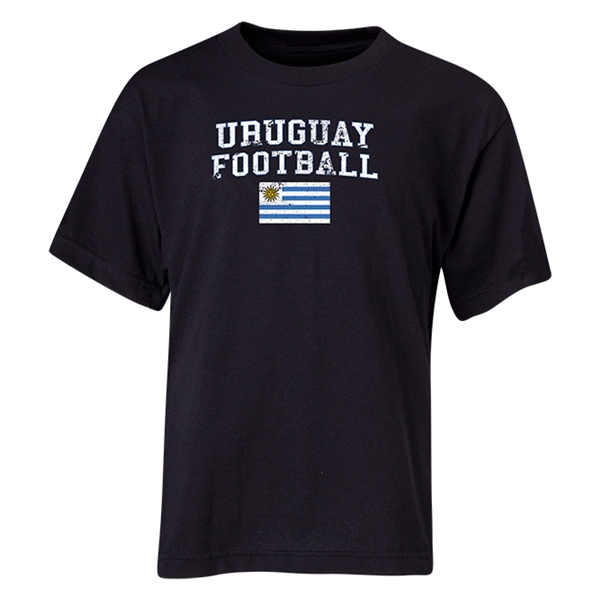Uruguay Youth Football T-Shirt (Black)