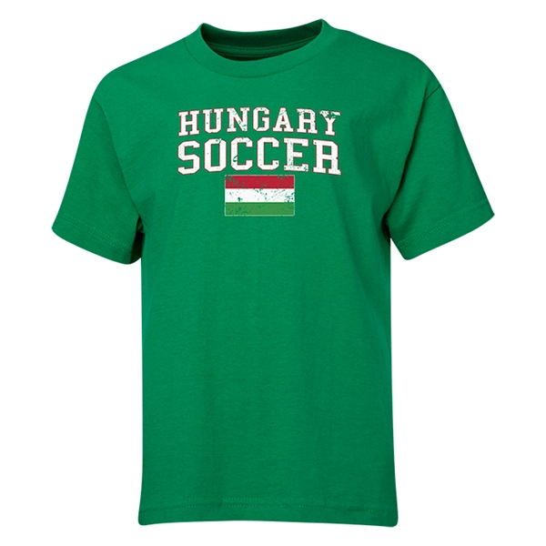 Hungary Youth Soccer T-Shirt (Green)