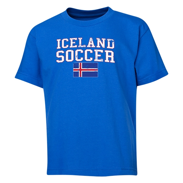 Iceland Youth Soccer T-Shirt (Royal)