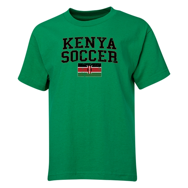 Kenya Youth Soccer T-Shirt (Green)