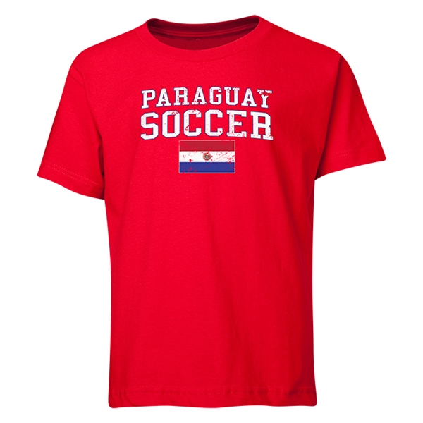 Paraguay Youth Soccer T-Shirt (Red)