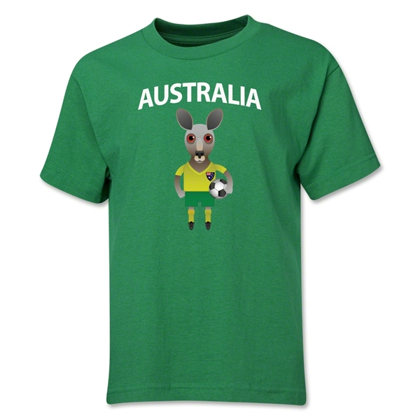 Australia Animal Mascot Youth T-Shirt (Green)