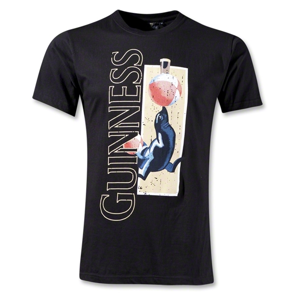 Guinness Distressed Seal T-Shirt (Black)